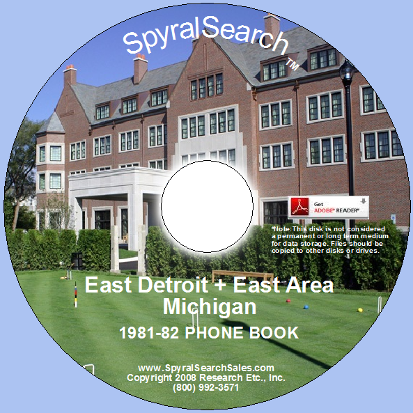 detroit michigan white pages telephone book